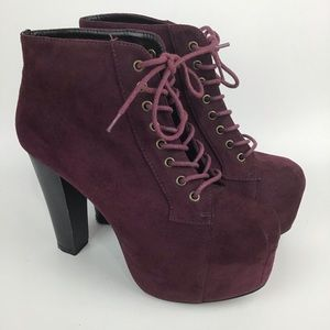 Lace-up Platform Stiletto Heel Ankle Booties 8